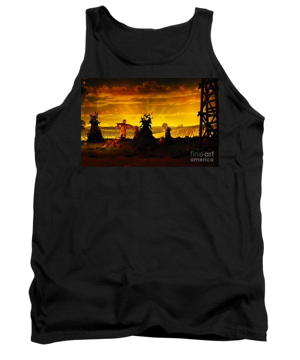 Farm Tank Top featuring the photograph Farm Scape by David Lee Thompson