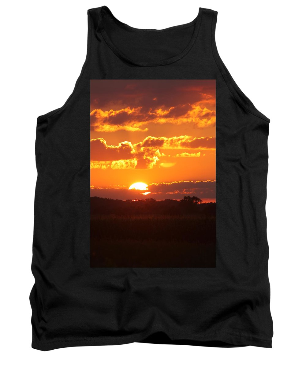 Sunset Tank Top featuring the photograph Farmland Sunset by Lauri Novak