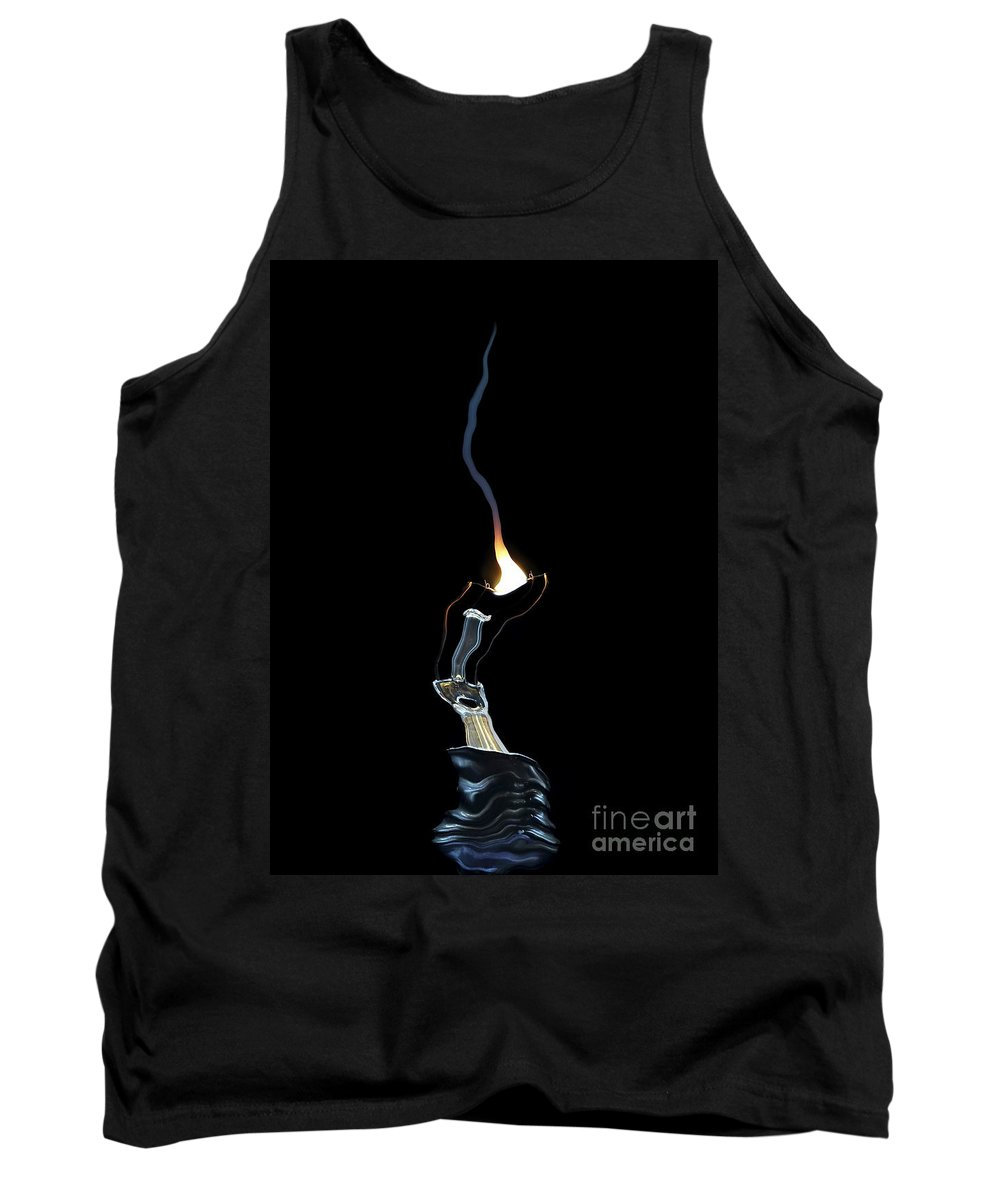 Bulb Tank Top featuring the digital art Fault by Michal Boubin