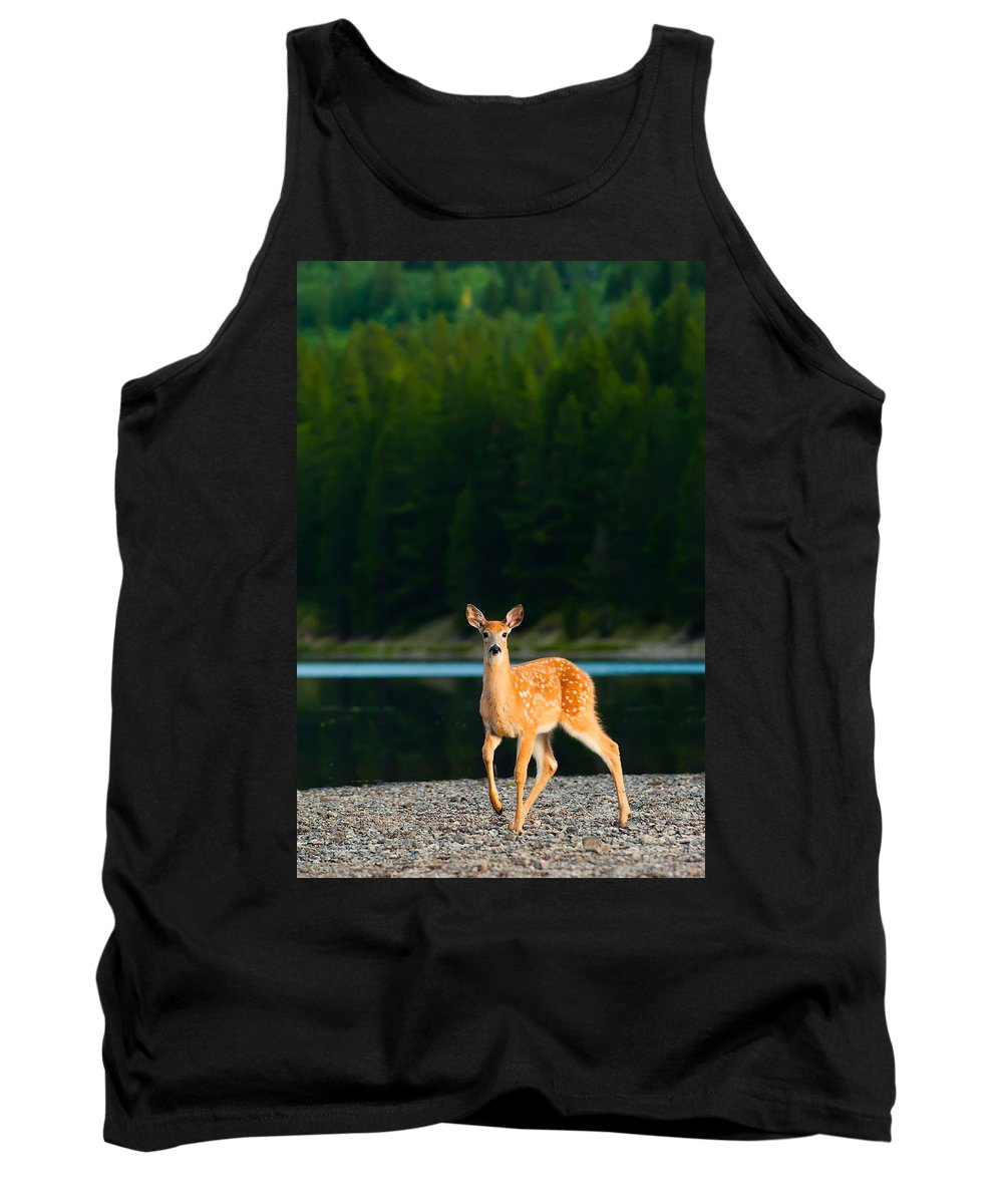 2006 Tank Top featuring the photograph Fawn by Sebastian Musial