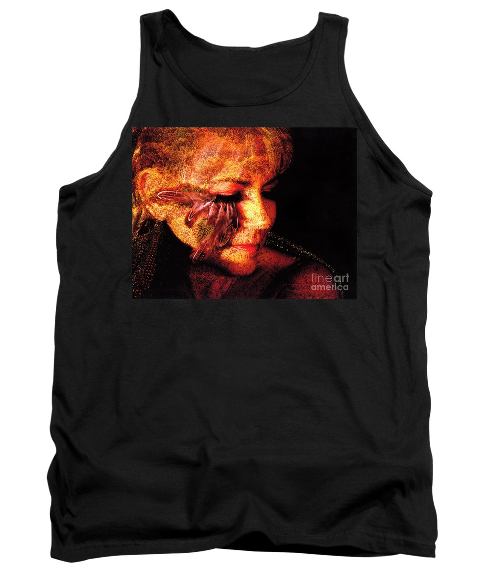 Clay Tank Top featuring the photograph Feathers Of Beauty by Clayton Bruster