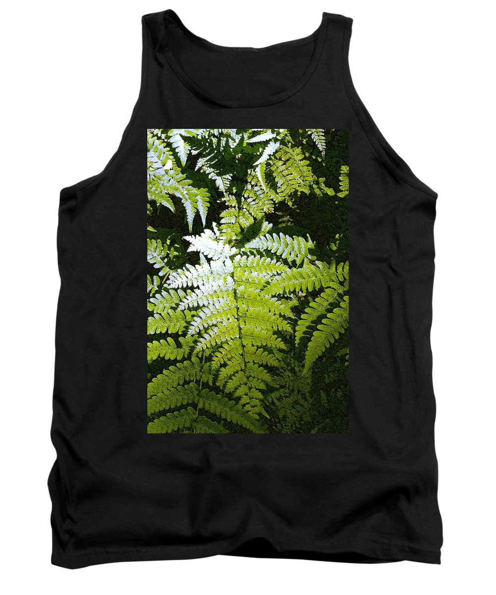 Ferns Tank Top featuring the photograph Ferns by Nelson Strong