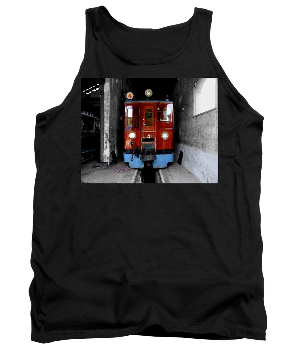 Train Tank Top featuring the photograph Ferrocarrril De Soller by Charles Stuart