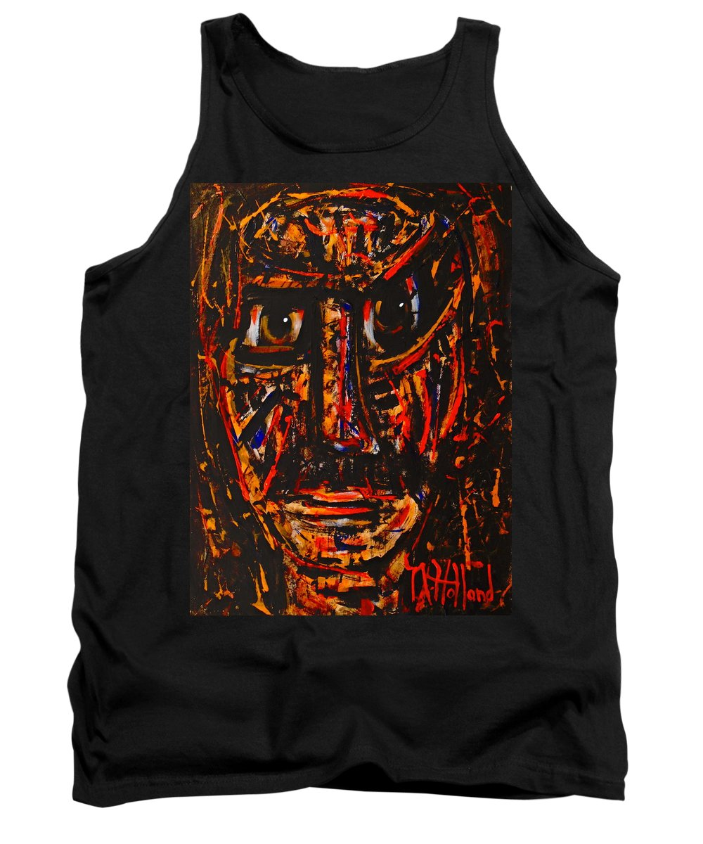 Expressionism Tank Top featuring the painting Fierce Warrior by Natalie Holland