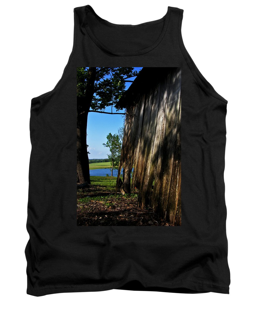 Landscape Tank Top featuring the photograph Fine Woodwork by Rachel Christine Nowicki