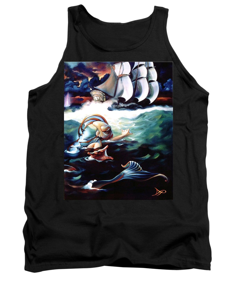 Seafarer Tank Top featuring the painting Finnegan's Quest by Patrick Anthony Pierson