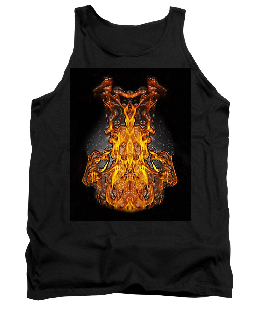 Devil Tank Top featuring the photograph Fire Leather by Peter Piatt