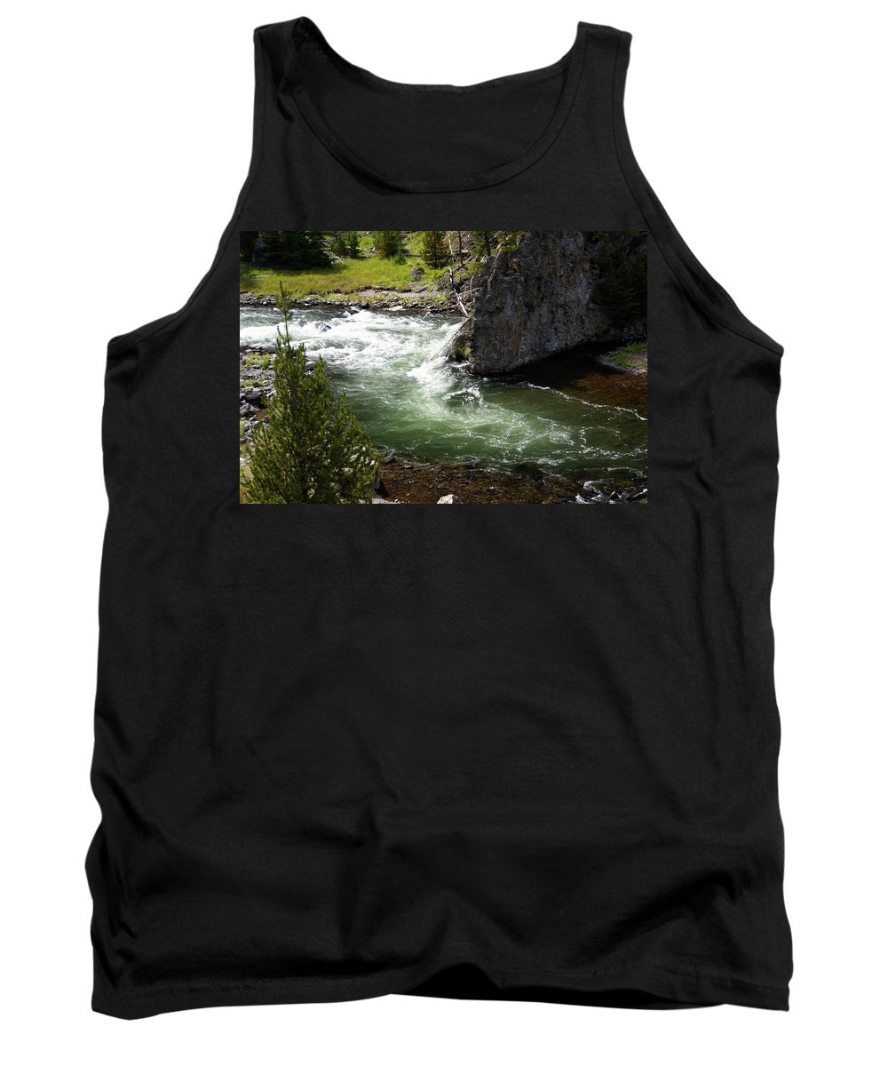 Yellowstone National Park Tank Top featuring the photograph Firehole Canyon 1 by Marty Koch