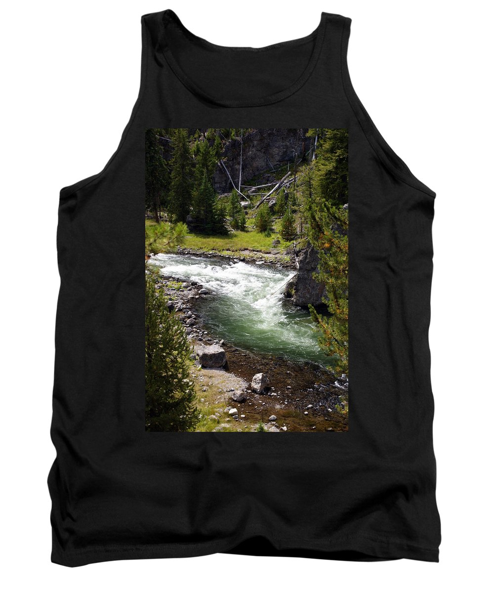 Yellowstone National Park Tank Top featuring the photograph Firehole Canyon 2 by Marty Koch