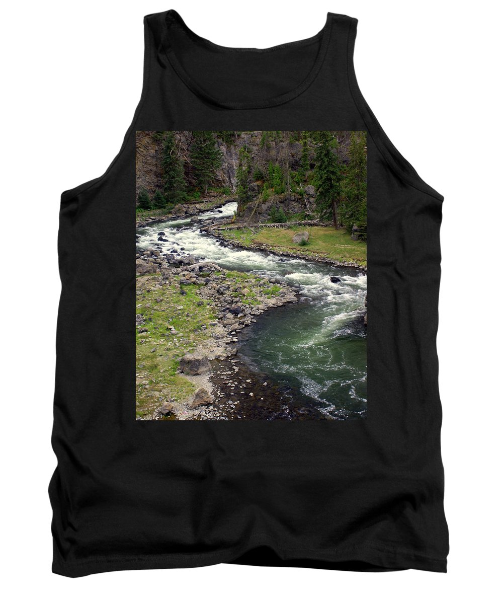 Firehole River Tank Top featuring the photograph Firehole River 2 by Marty Koch