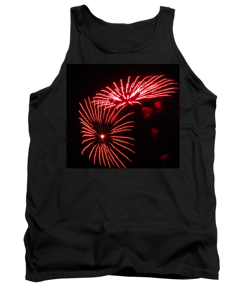 Fireworks Tank Top featuring the photograph Firework Gerbera Daisies by Adrienne Wilson