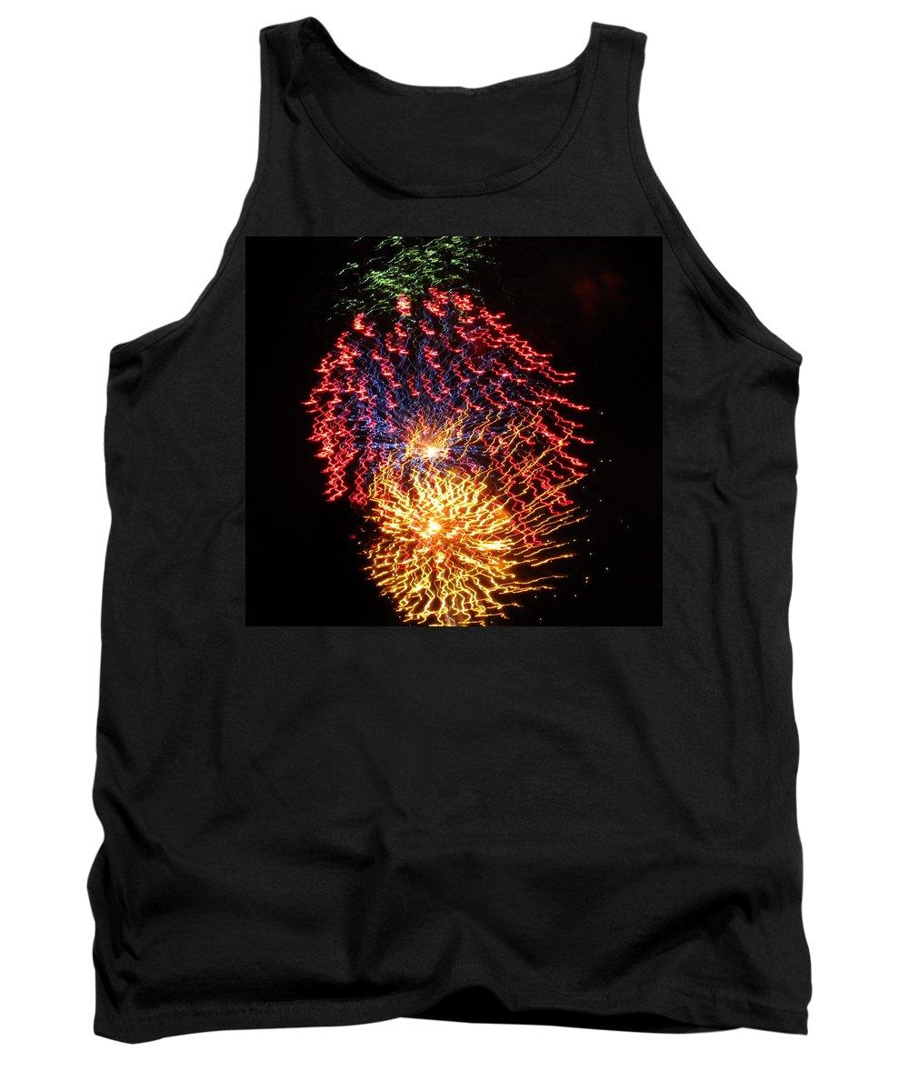 Fireworks Tank Top featuring the photograph Firework Jewel Blast by Adrienne Wilson