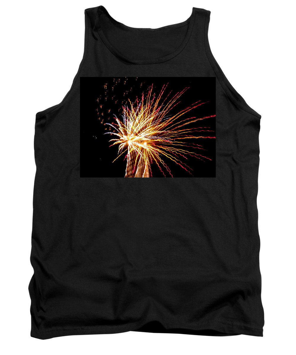 Fireworks Tank Top featuring the photograph Firework Symphony by Adrienne Wilson