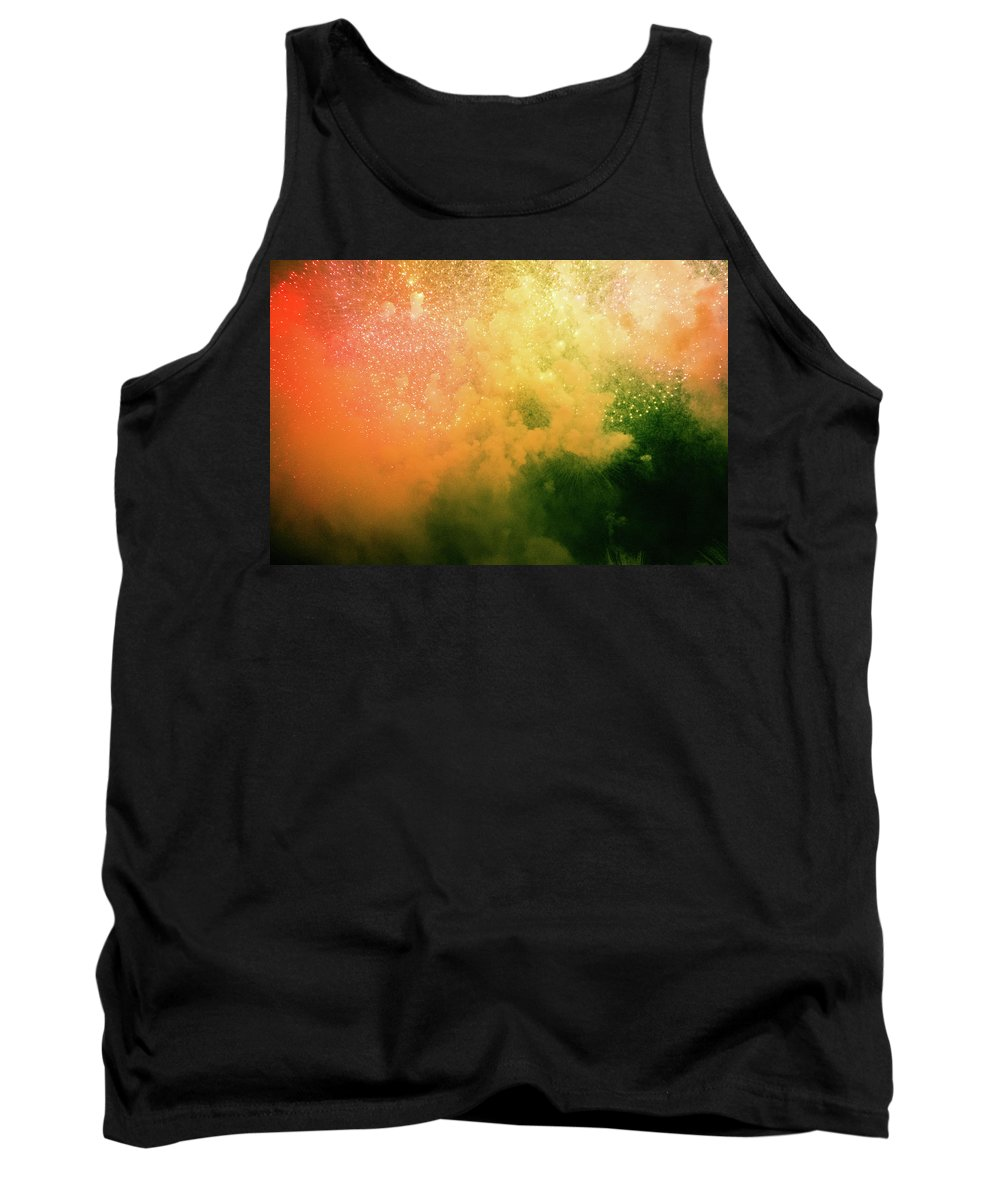 Fireworks Tank Top featuring the photograph Fireworks by Mike Agentis