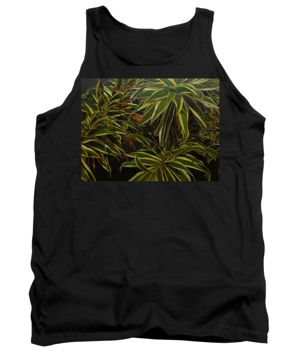 Leaves Tank Top featuring the painting First In Cabot by Thu Nguyen