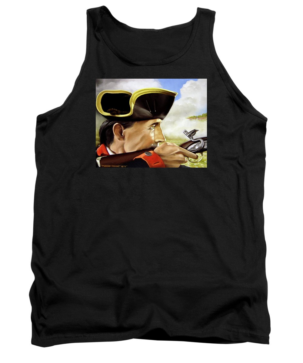 Continental Tank Top featuring the painting First To Fight by Marc Stewart