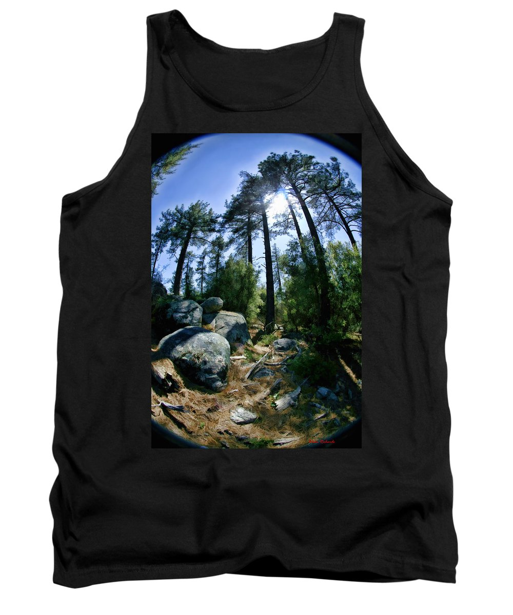 Tank Top featuring the photograph Fish Eye Trees by Blake Richards