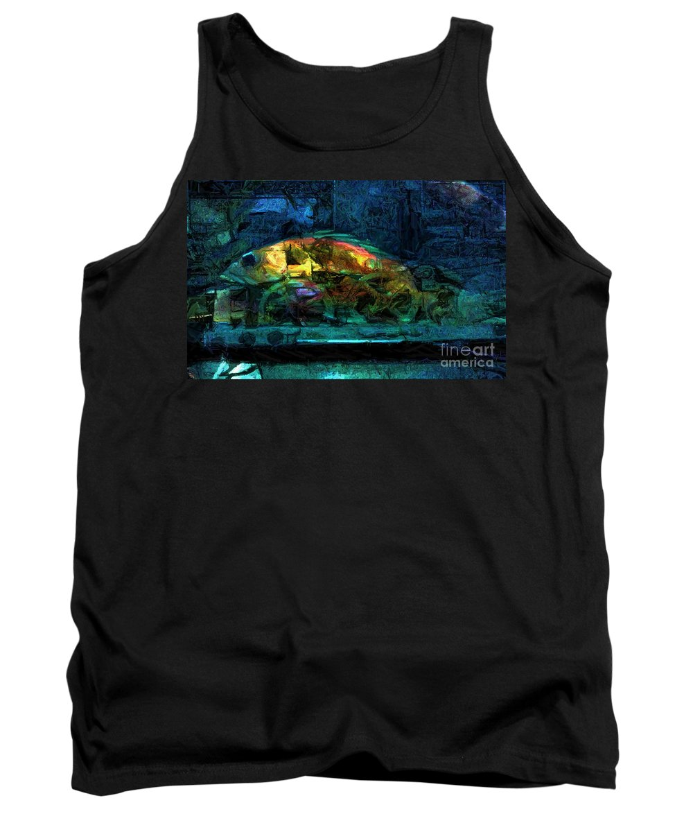 Fish Tank Top featuring the digital art Fish Wheels by Ron Bissett