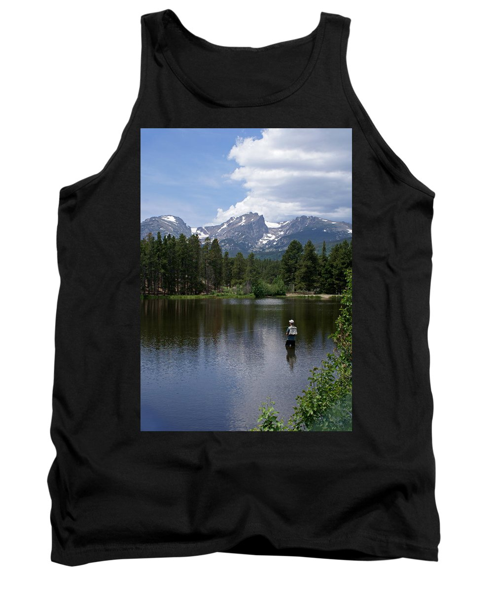 Fishing Tank Top featuring the photograph Fishing In Colorado by Heather Coen