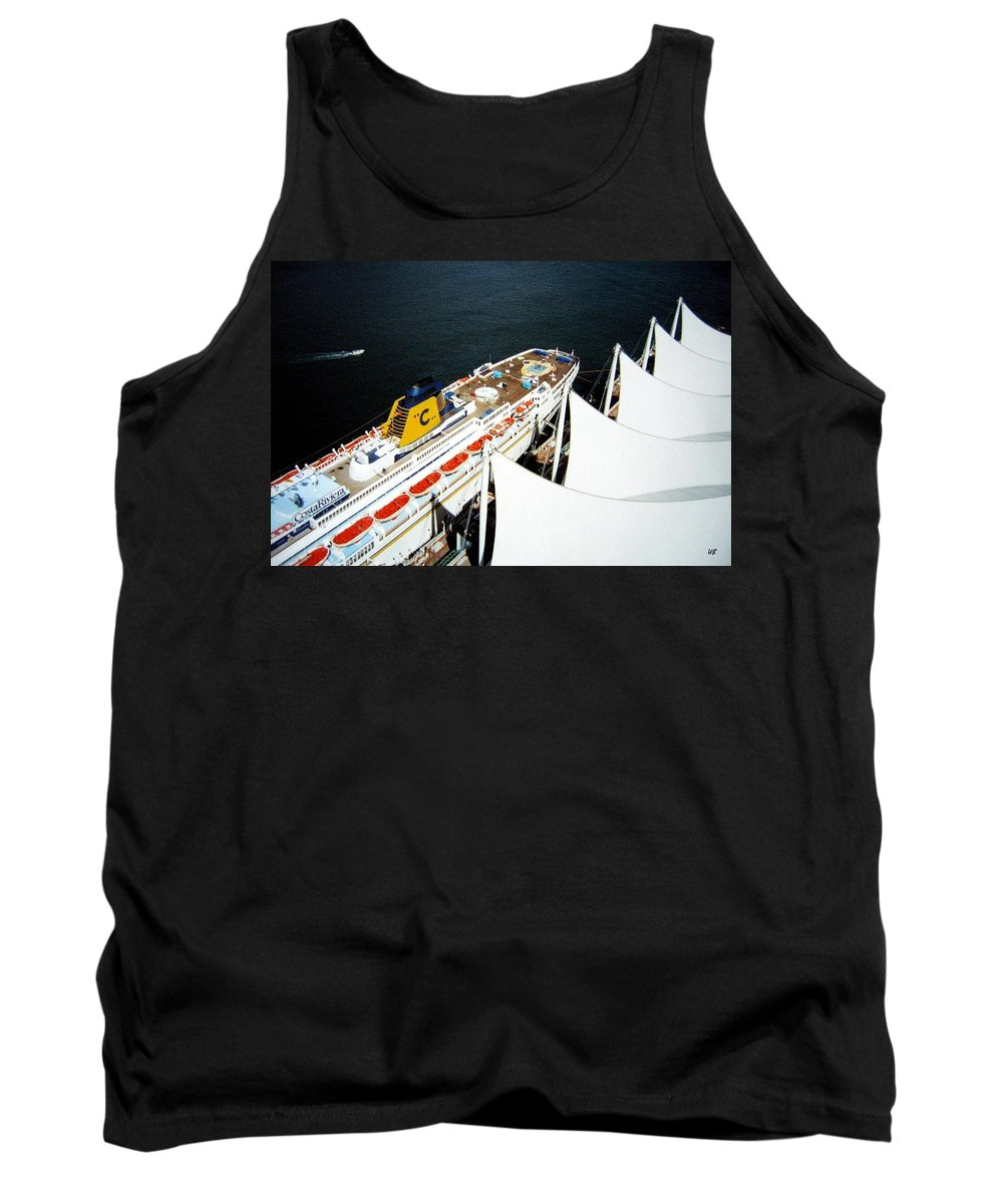 Five Sails Tank Top featuring the photograph Five Sails And A Ship by Will Borden
