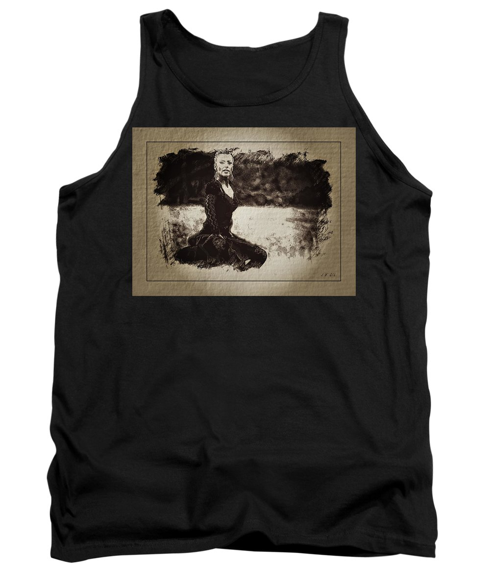 Flamenco Tank Top featuring the photograph Flamenco by Jean Francois Gil