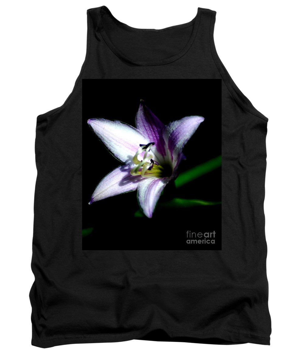 Digital Photograph Tank Top featuring the photograph Floral 7-24-09 by David Lane
