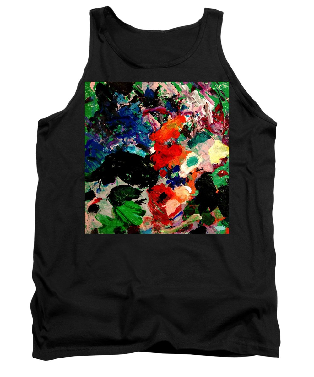 Abstract Tank Top featuring the painting Floral Garden by Natalie Holland