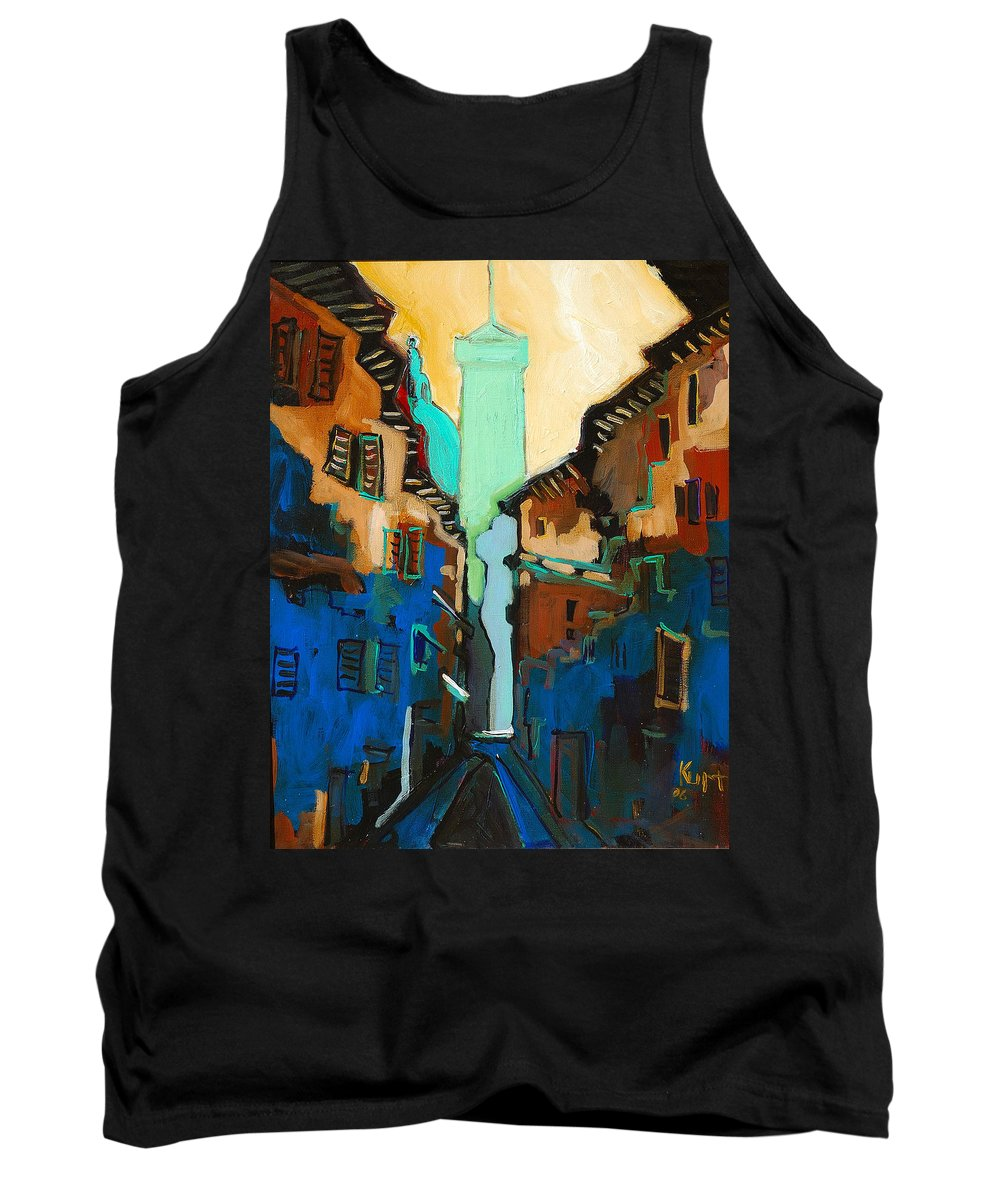 Florence Tank Top featuring the painting Florence Street Study by Kurt Hausmann