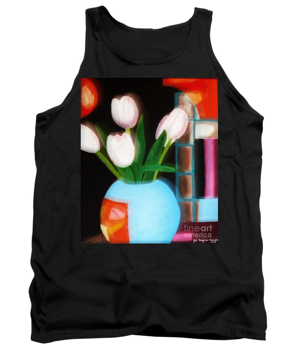 Landscape Tank Top featuring the painting Flower Decor by Yael VanGruber