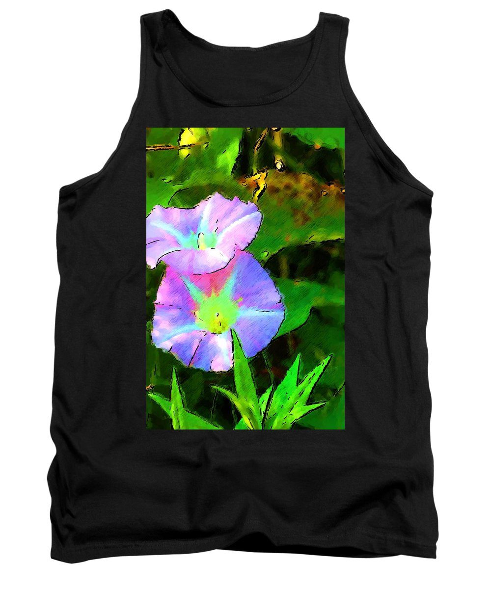 Digital Photograph Tank Top featuring the photograph Flower Drawing by David Lane