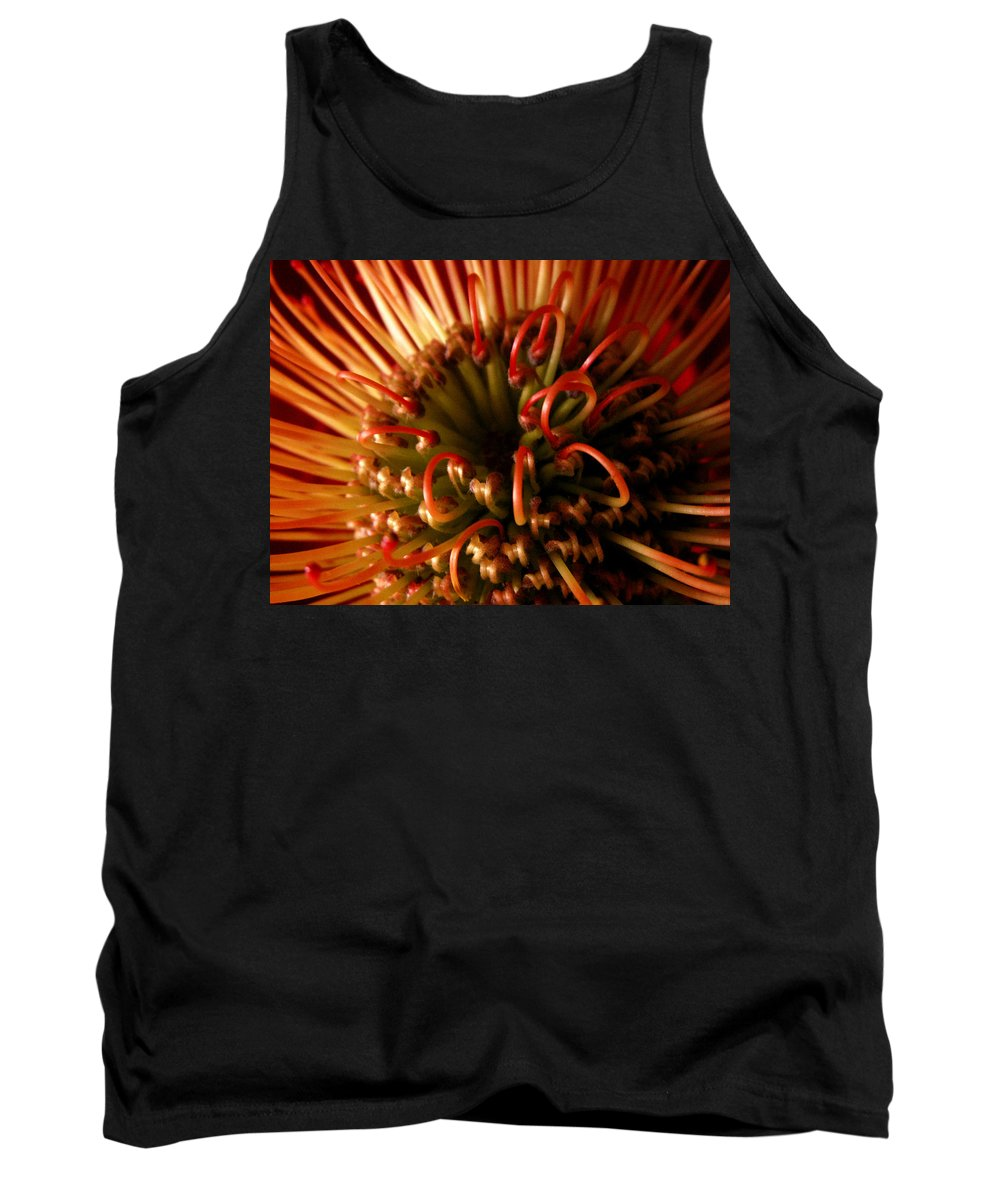 Flowers Tank Top featuring the photograph Flower Hawaiian Protea by Nancy Griswold