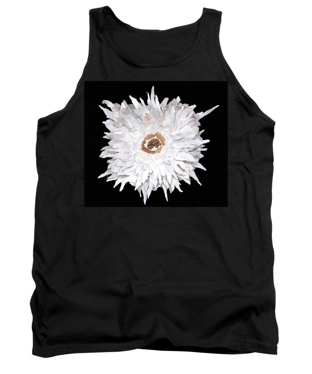 Flower Tank Top featuring the mixed media Flower by Jaime Becker