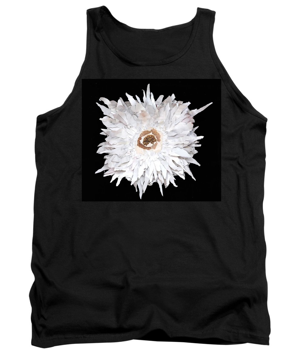 Flower Tank Top featuring the mixed media Flower by Jaime Becker