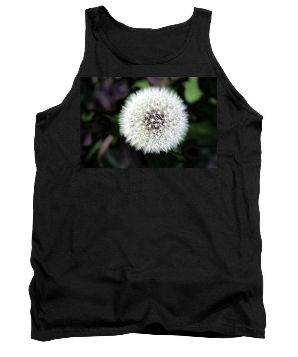 Weed Tank Top featuring the photograph Flower Of Flash by Mark Ashkenazi