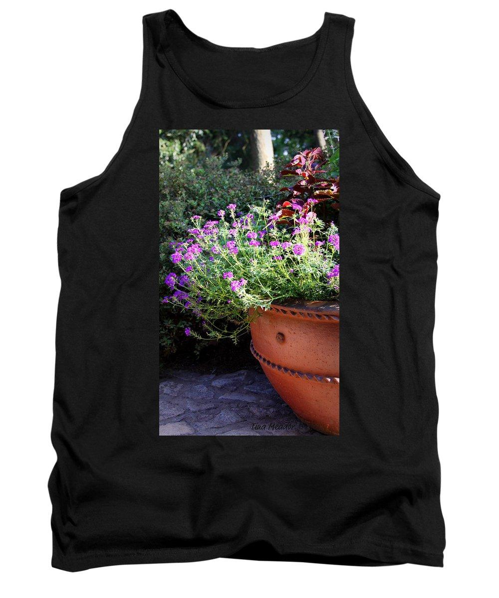 Flower Tank Top featuring the photograph Flower Pot by Tina Meador