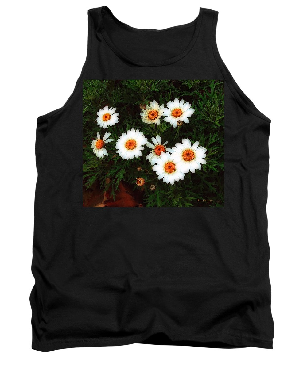 Bush Tank Top featuring the painting Flowering Yew by RC DeWinter