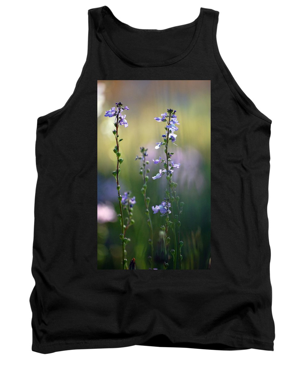 Nature Tank Top featuring the photograph Flowers By The Pond by Robert Meanor