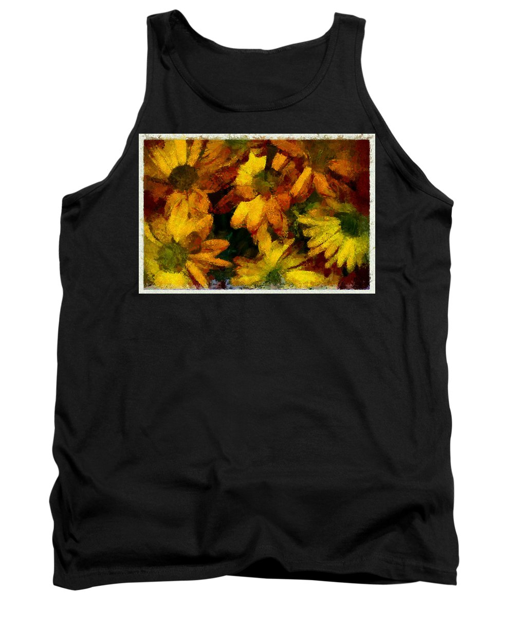 Flower Tank Top featuring the photograph Flowers Confusion by Galeria Trompiz
