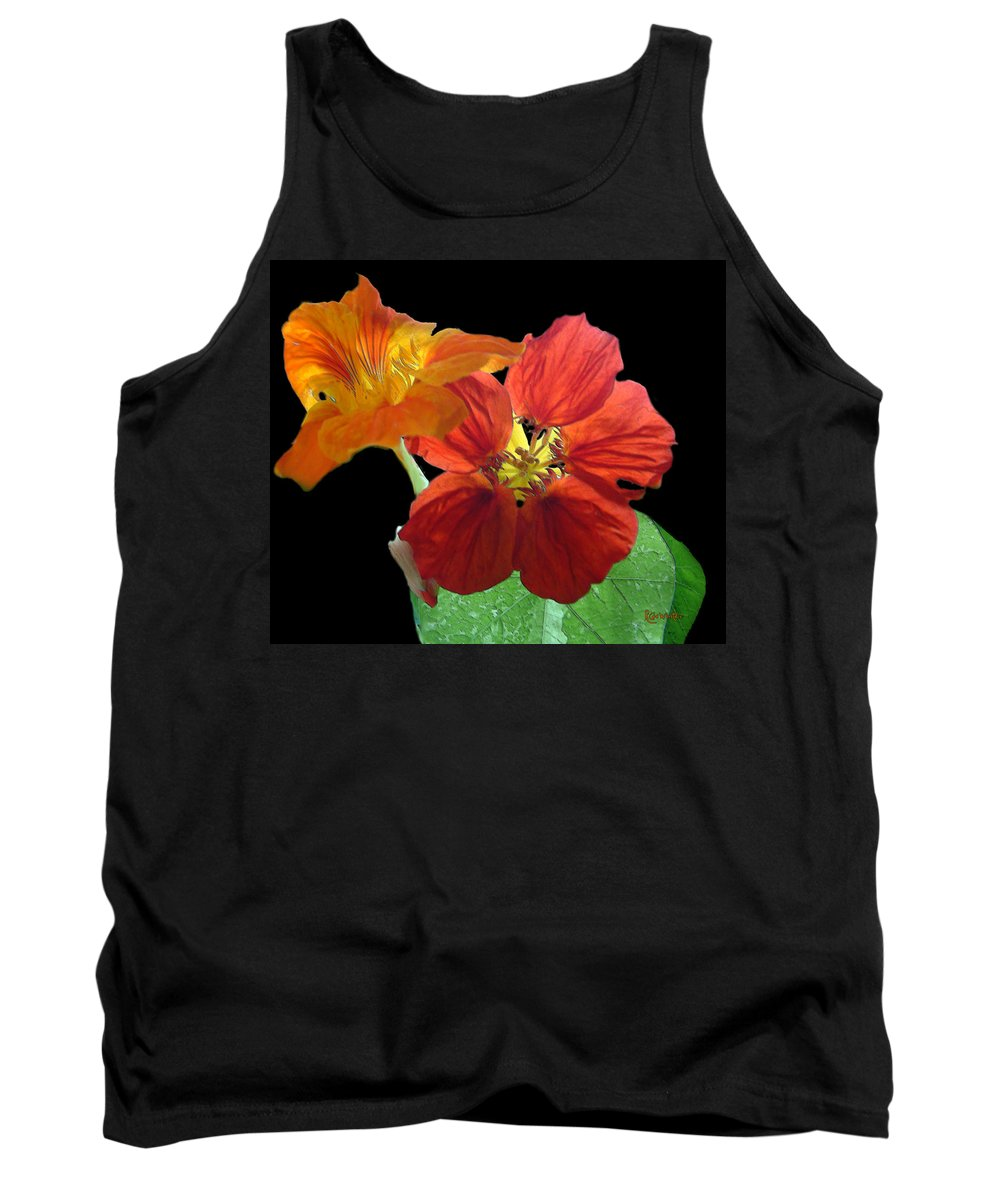 Nasturtiums Tank Top featuring the painting Flowers For Ebie by RC DeWinter