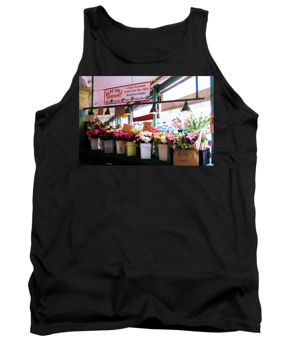 Flowers Tank Top featuring the photograph Flowers For Sale by Lori Tambakis