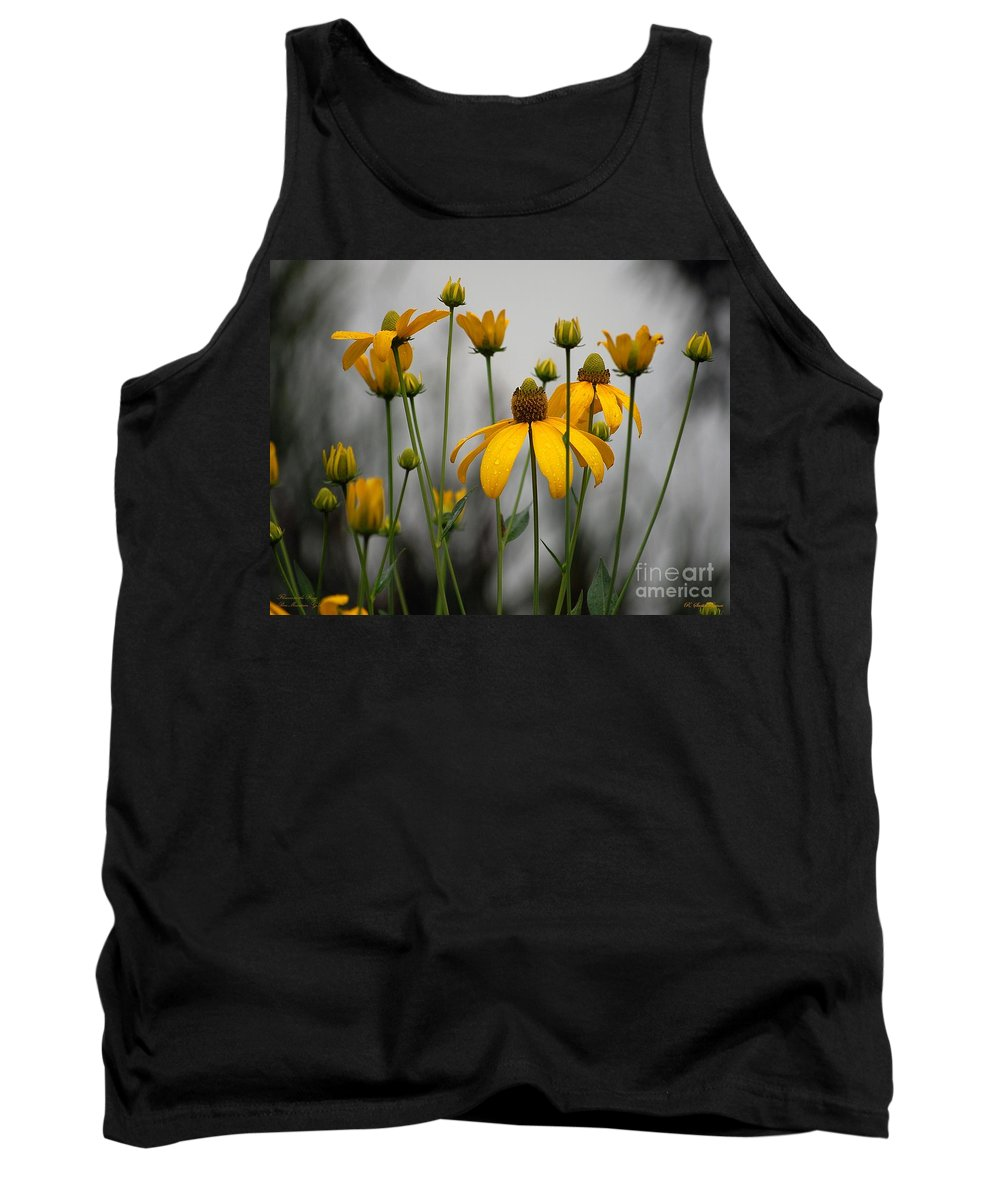 Flowers Tank Top featuring the photograph Flowers In The Rain by Robert Meanor