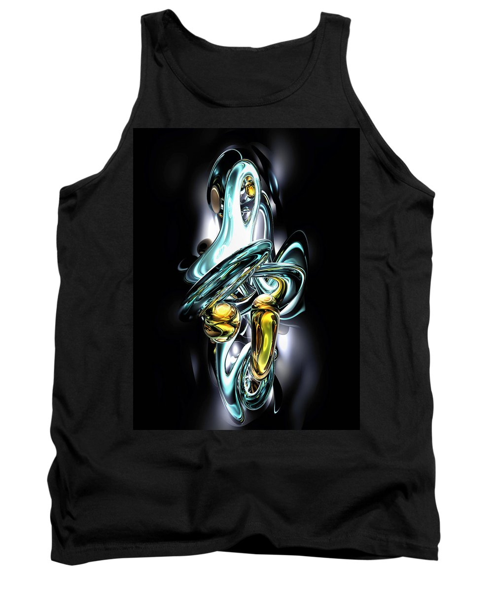 3d Tank Top featuring the digital art Fluidity Abstract by Alexander Butler