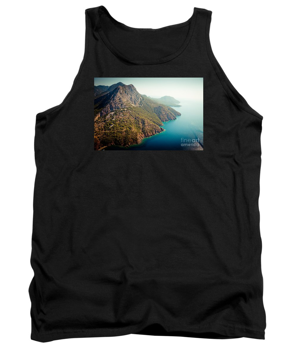 Water Tank Top featuring the photograph Fly Above Laguna Seascape Artmif.lv by Raimond Klavins