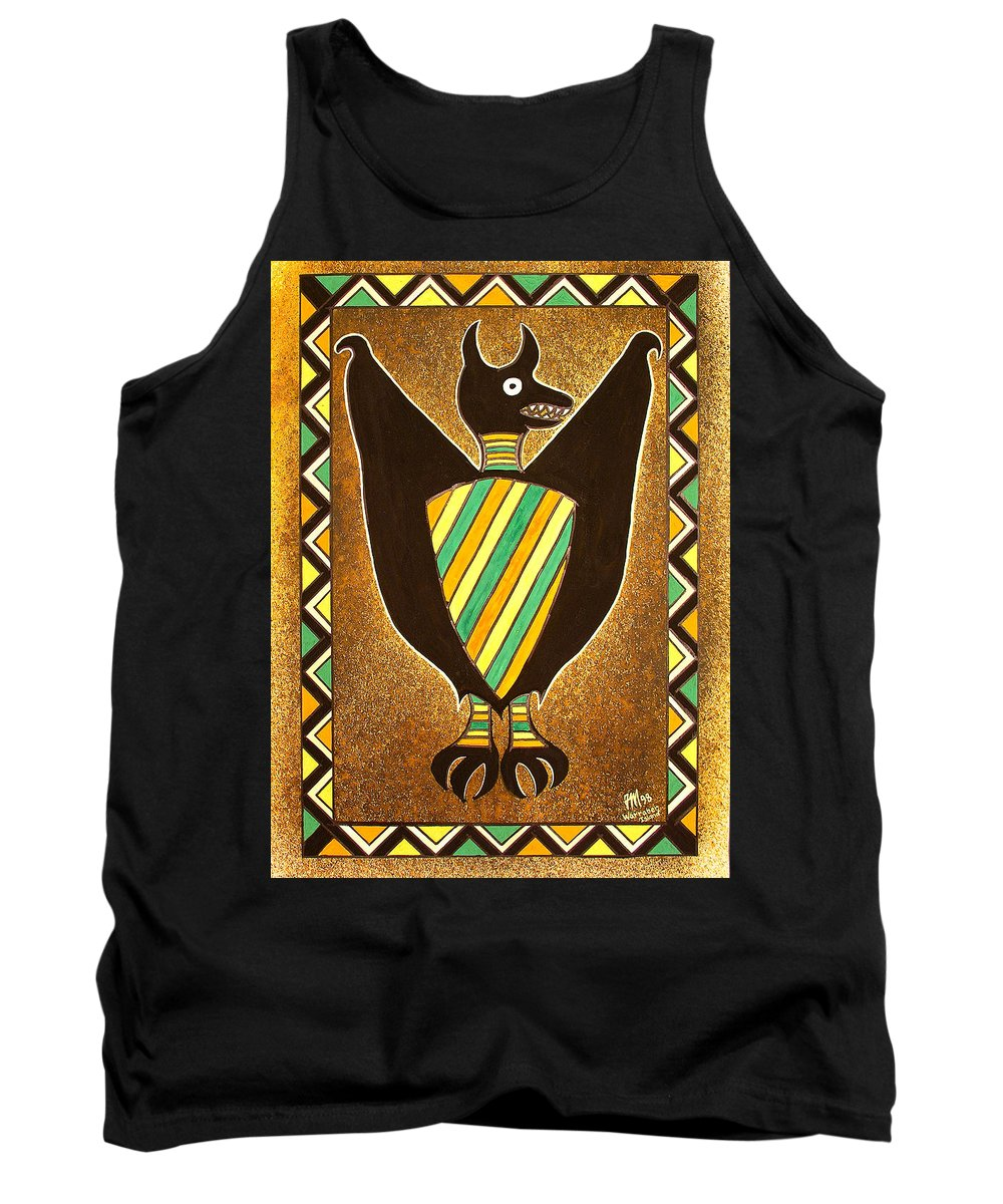 Warraber Island Tank Top featuring the painting Flying Fox by Joe Michelli