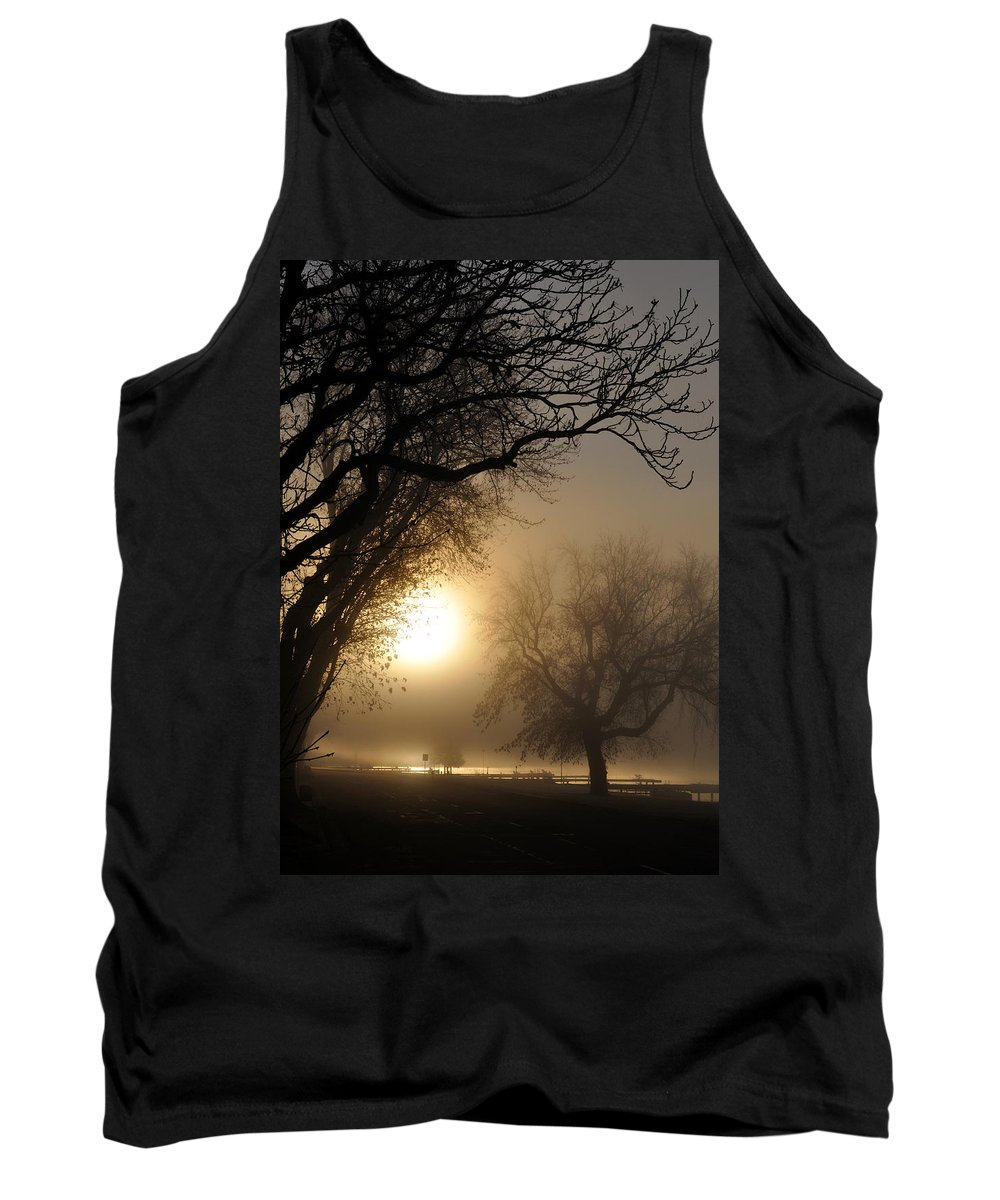 Foggy Tank Top featuring the photograph Foggy Morn by Tim Nyberg