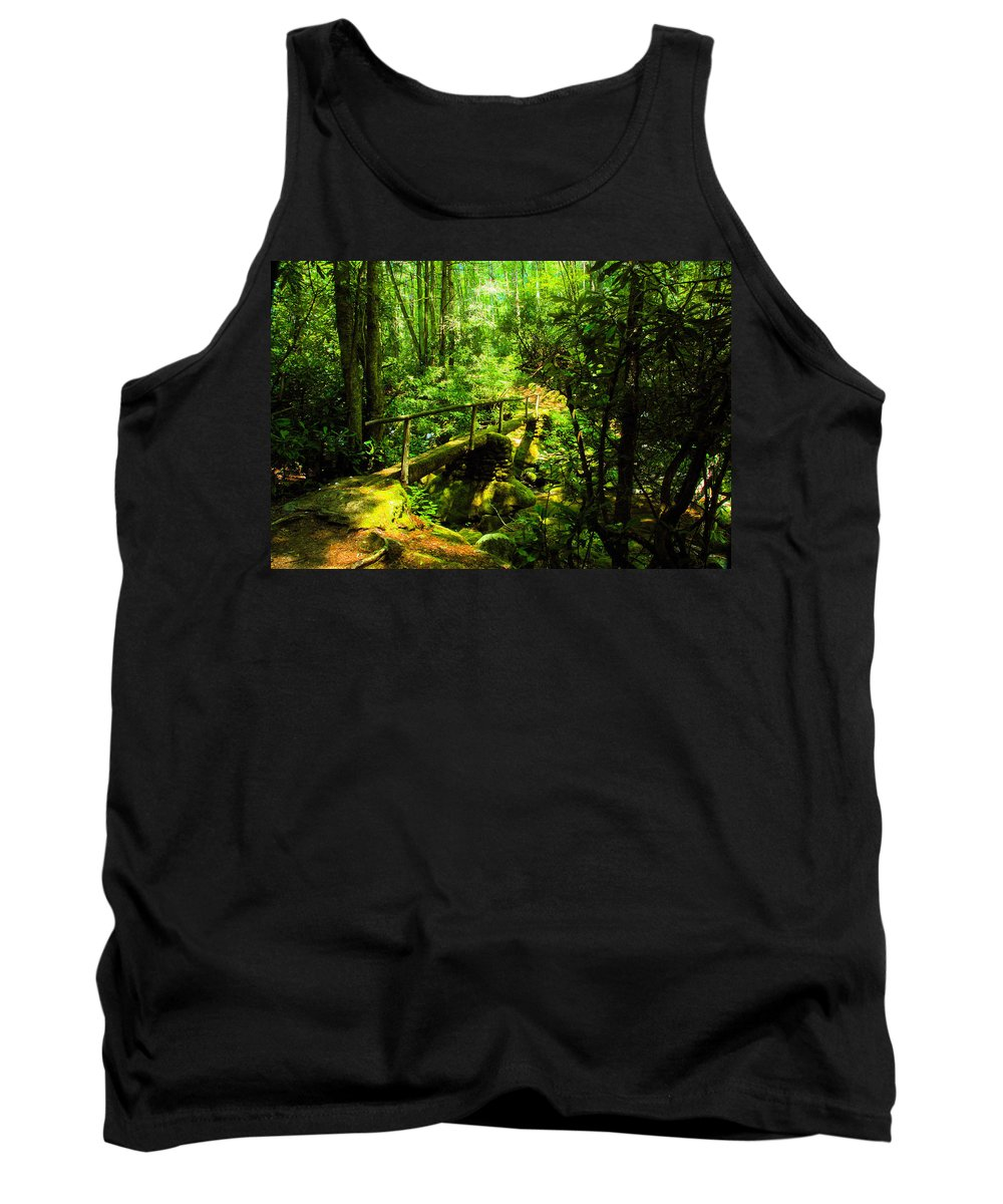 Art Tank Top featuring the painting Foot Bridge by David Lee Thompson