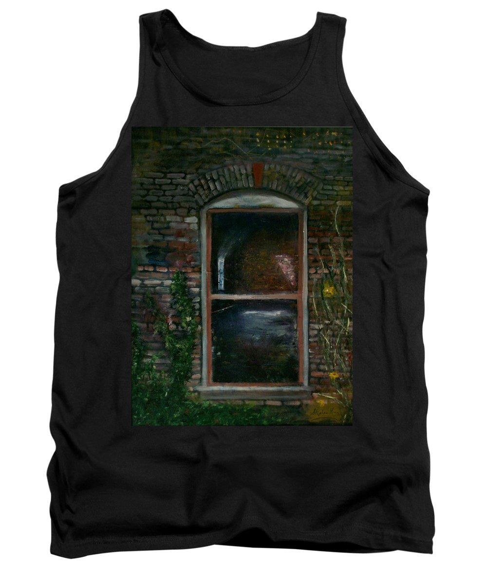 Landscape Tank Top featuring the painting For Rent by Stephen King