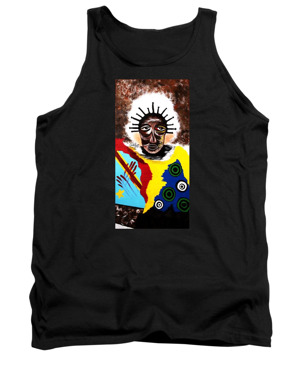 Congo Tank Top featuring the painting For The Women Of The Congo by Carla J Lawson