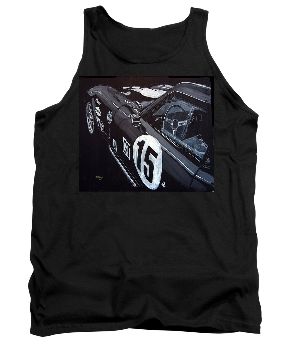 Ford Cobra Racing Coupe Tank Top featuring the painting Ford Cobra Racing Coupe by Richard Le Page