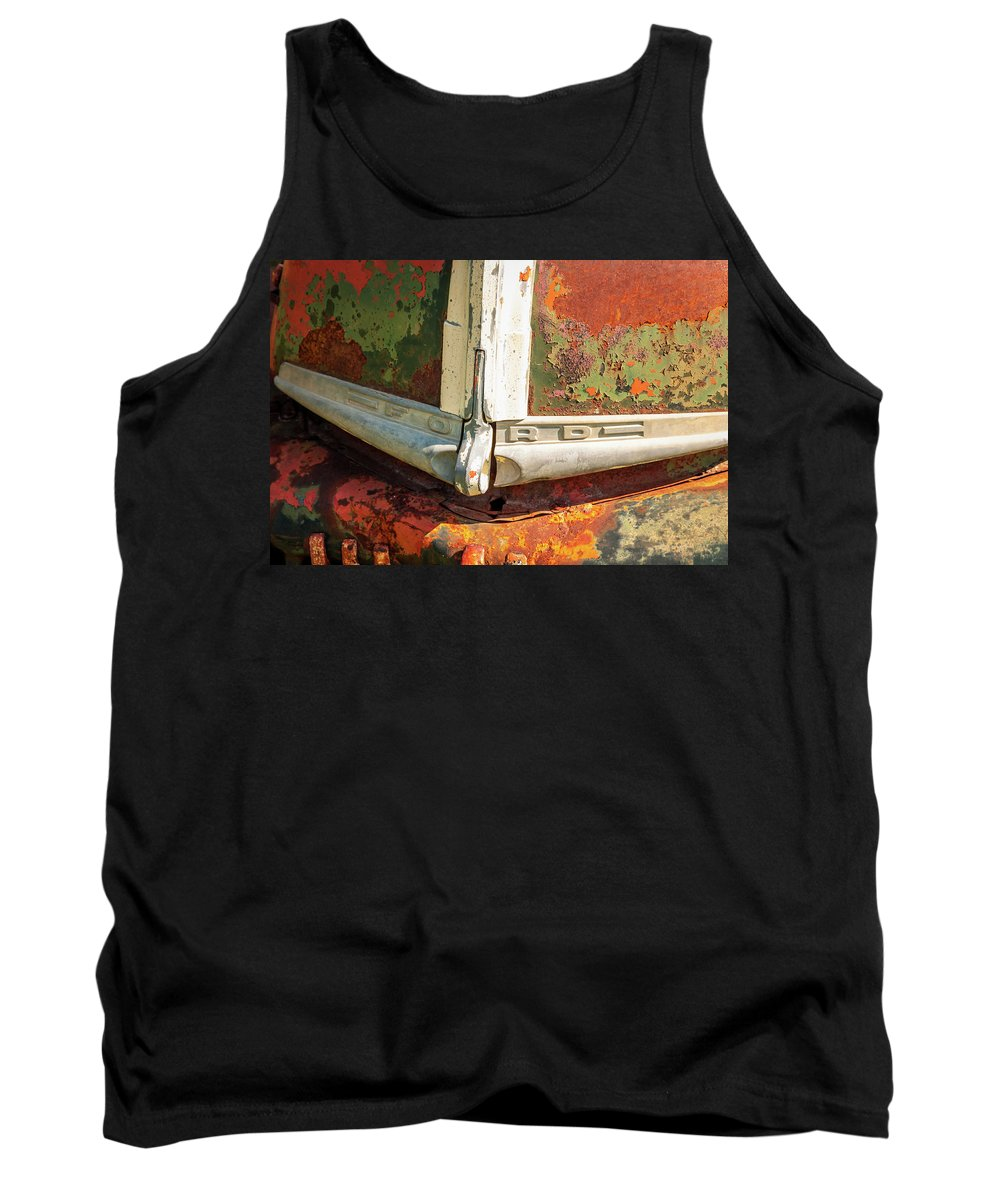 Ghost Town Tank Top featuring the photograph Ford Truck by Jeff Phillippi